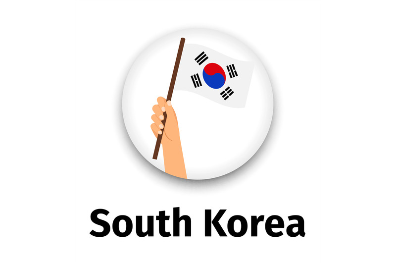 south-korea-flag-in-hand