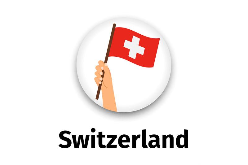 switzerland-flag-in-hand