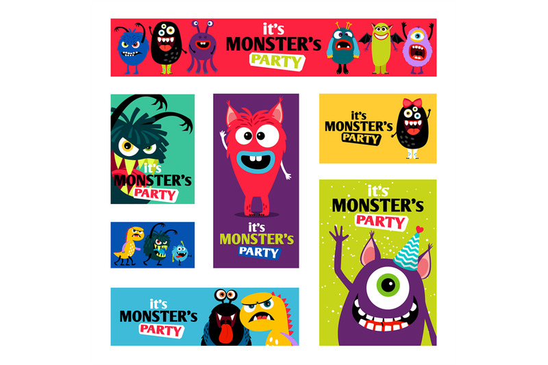 monsters-banners-set-or-monster-labels-for-kids-diary-design