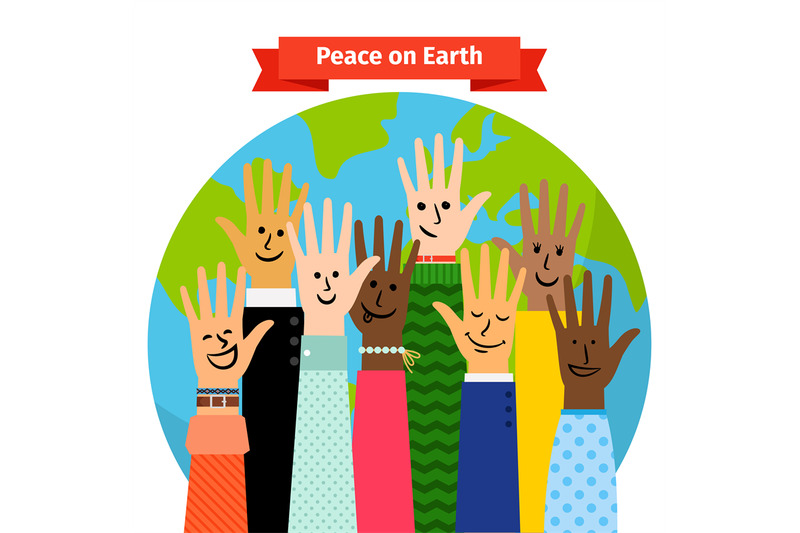 peace-concept-peoples-hands-raised