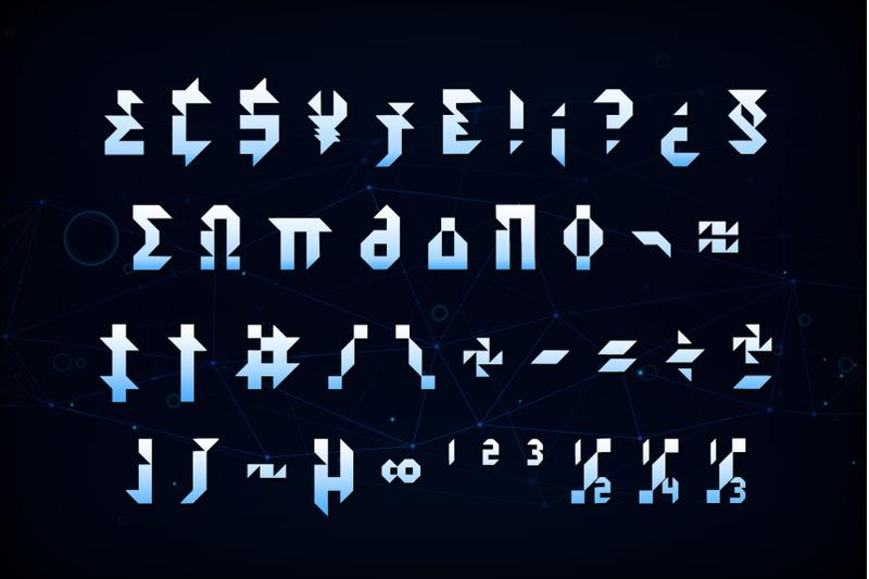 kidshape-futuristic-font