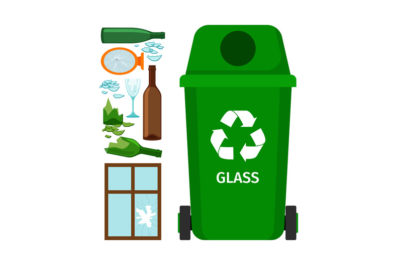 green-garbage-can-with-glass