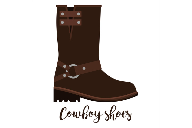 cowboy-shoes-icon-with-text