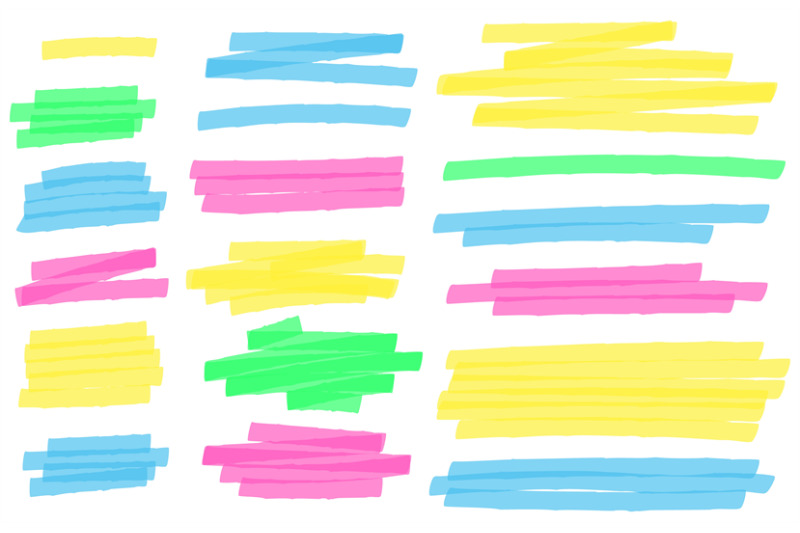 color-highlight-marker-lines-colorful-markers-scribble-highlights-li