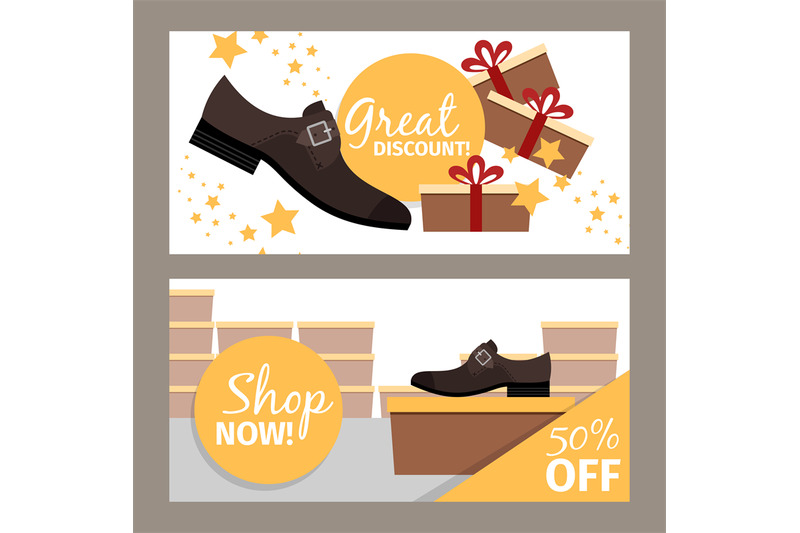 men-shoes-horizontal-flyers-for-store