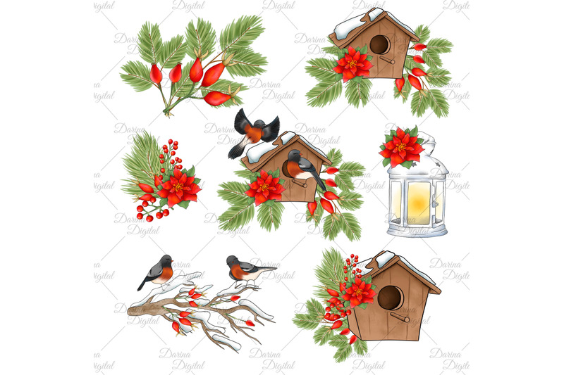 christmas-bird-clipart