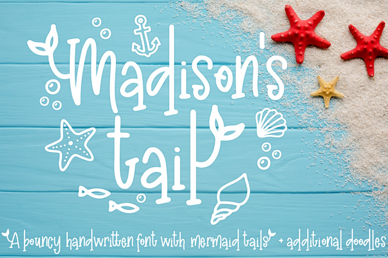 madison-039-s-tail-a-mermaid-font-plus-nautical-doodles