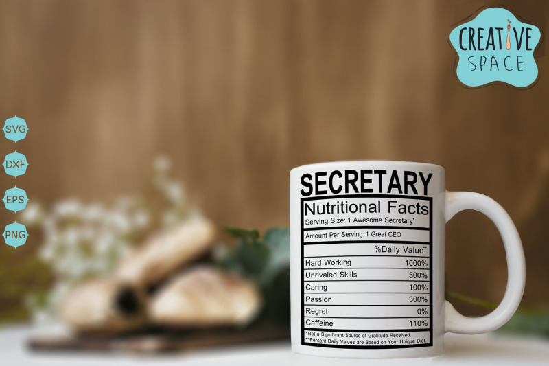 secretary-nutritional-facts-svg