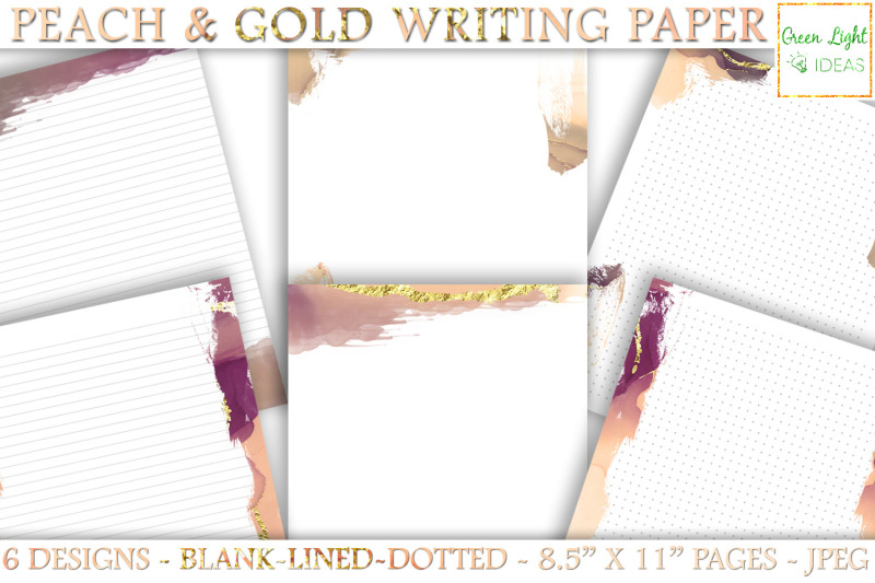 peach-gold-printable-stationery-paper-printable-journal-pages