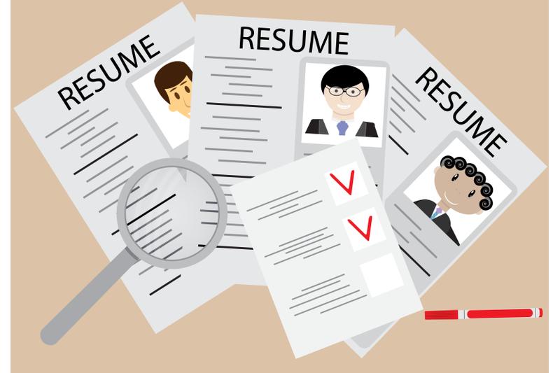 hiring-and-employee-flat-design