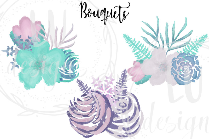 winter-watercolor-flowers-clipart-wedding-purple-floral-wreaths