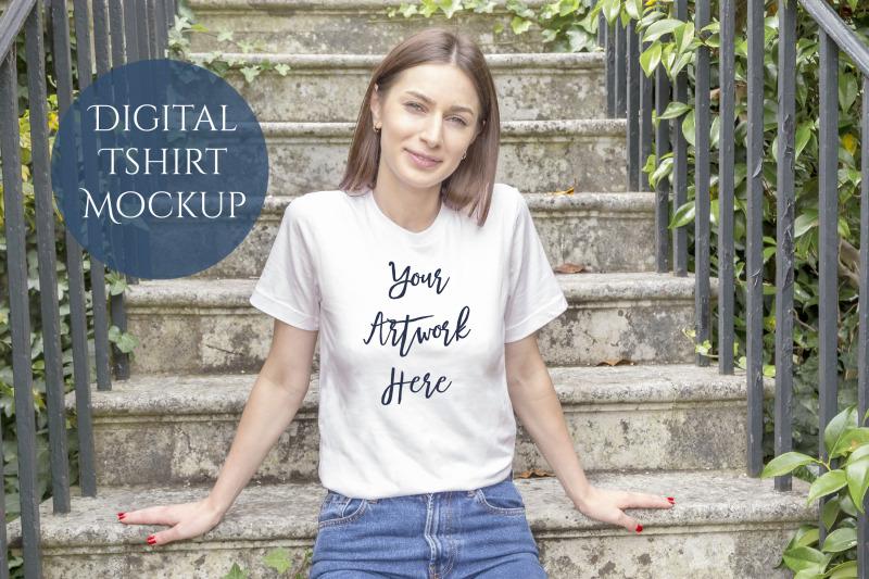 bella-canvas-3001-t-shirt-digital-mockup-photo