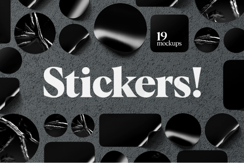 stickers-mockups-set