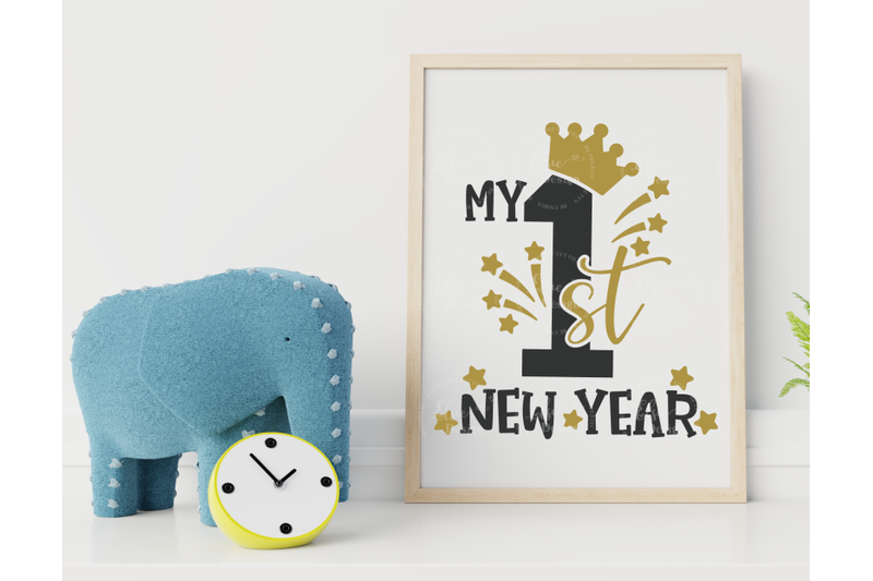 my-first-new-year-crown-svg