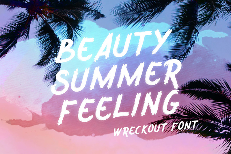wreckout-decorative-brush-font