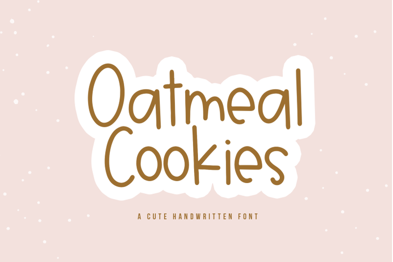 oatmeal-cookies-a-fun-handwritten-font