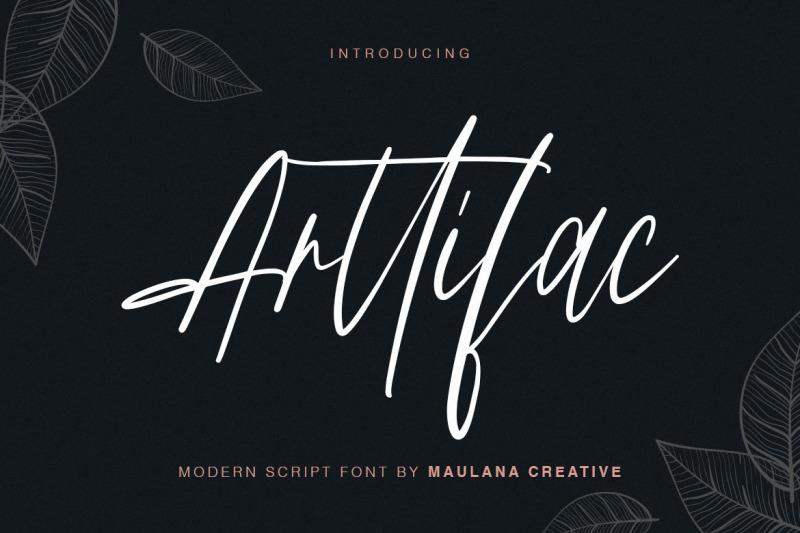 arttifac-modern-script-font