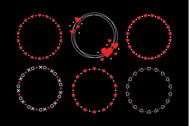heart-valentine-frame-clip-art-set