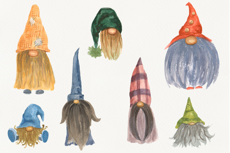 scandinavian-gnomes-watercolor-clipart