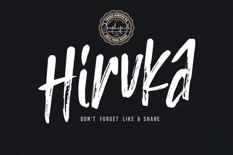hiruka-handbrushed-font