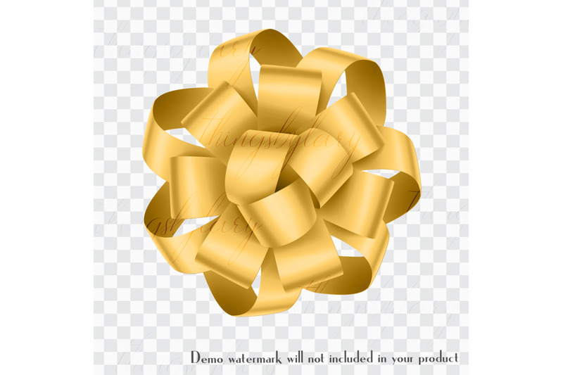 56-yellow-satin-bows-and-ribbons-card-making-digital-images