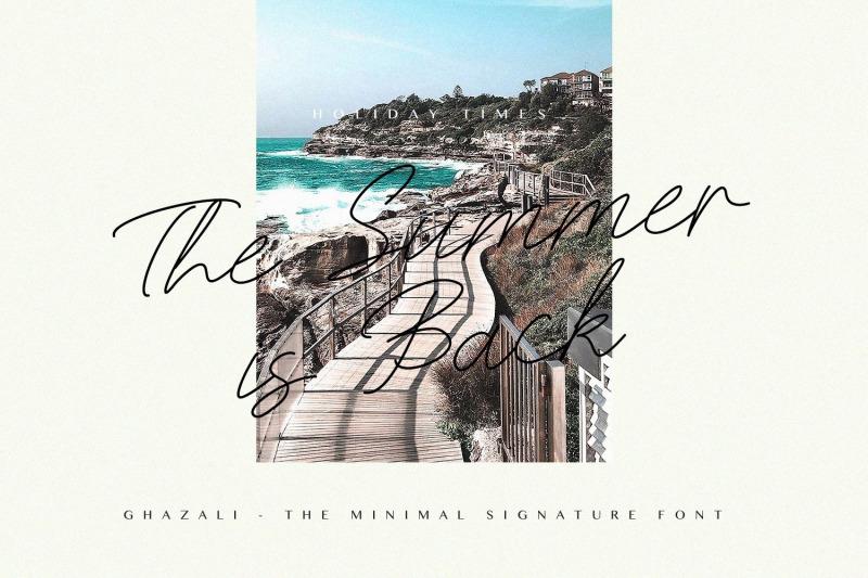ghazali-the-minimal-signature-font