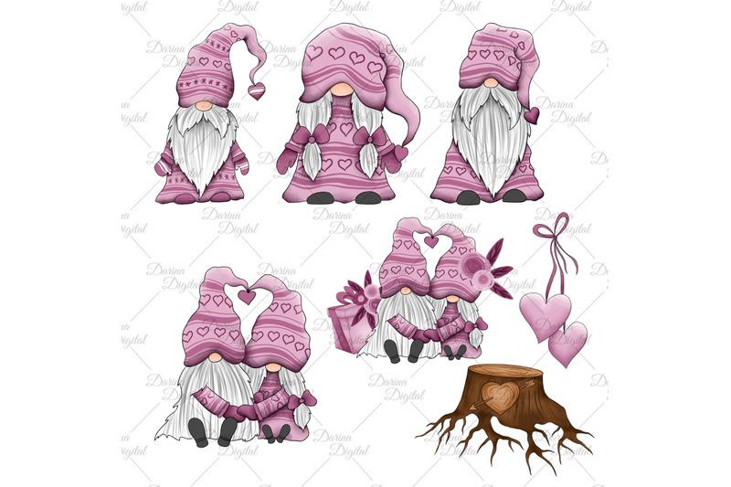 gnomes-in-love-clipart
