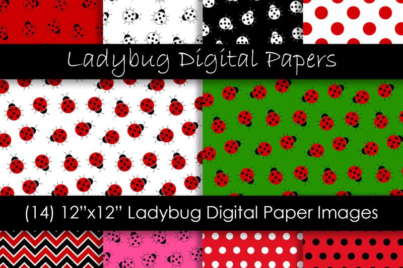ladybug-digital-paper-patterns