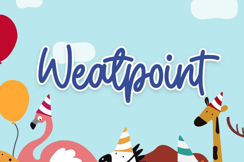 weatpoint-playful-script-font