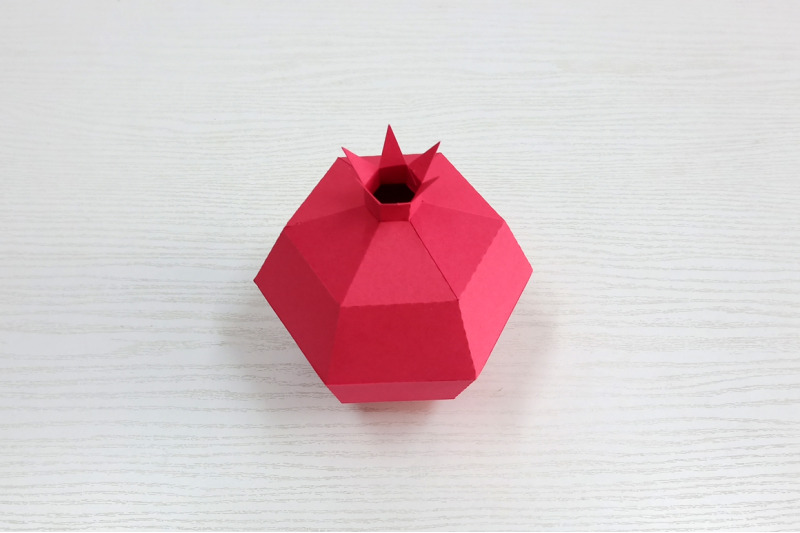 diy-pomegranate-3d-papercraft