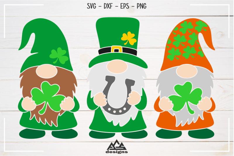 gnome-st-patricks-day-svg-design