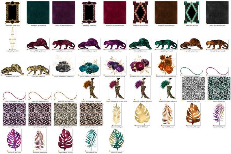 leopard-ball-digital-scrapbook-kit