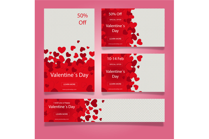 valentine-s-day-web-banner-collection