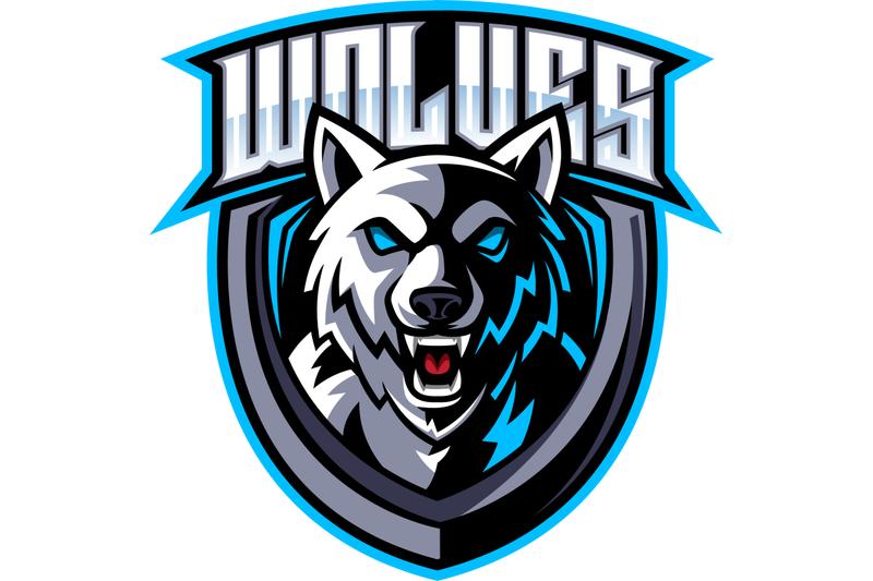 wolf-head-mascot-logo-design