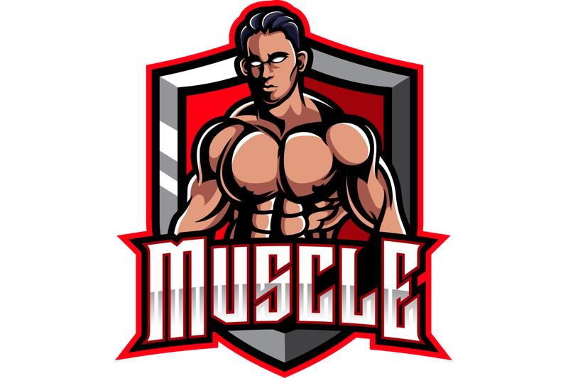 muscular-man-mascot-logo-design