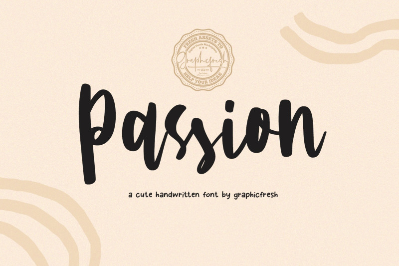 passion-a-cute-handwritting-font