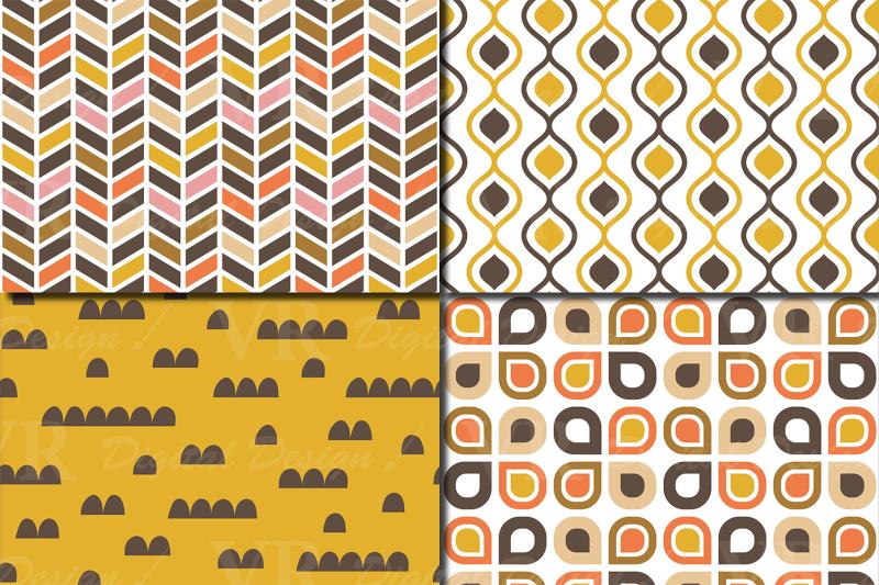 retro-geometric-seamless-patterns-brown-orange-yellow-pink