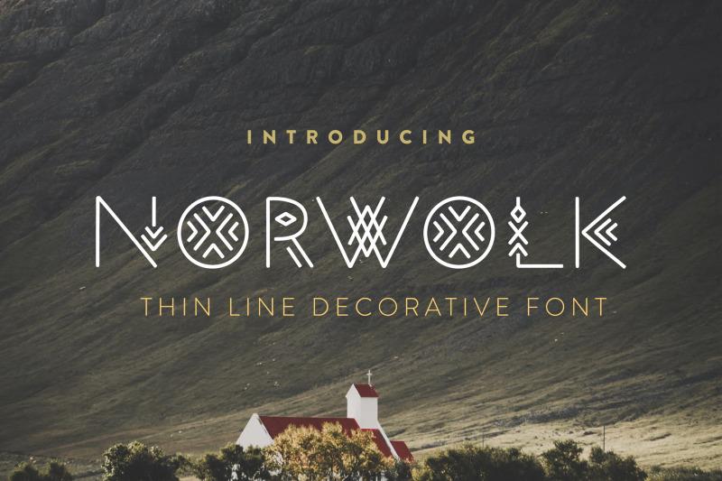 norwolk-thin-line-decorative-font
