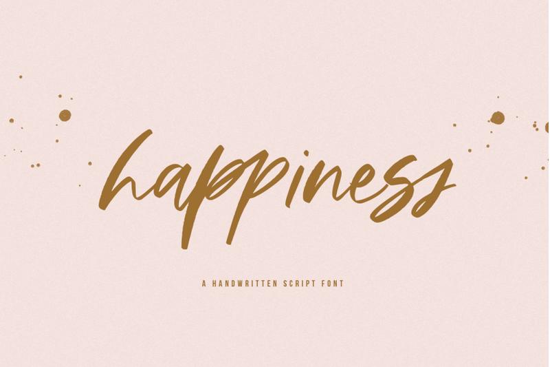 happiness-a-handwritten-script-font