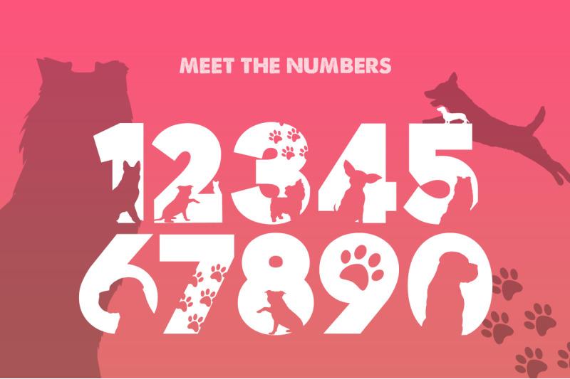 doggies-silhouette-font