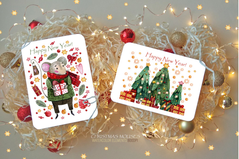 christmas-mouses-watercolor-collection