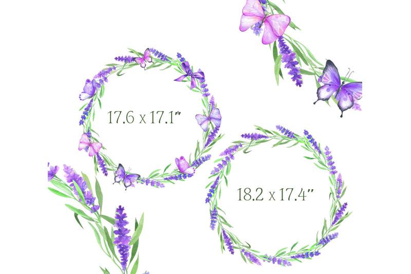 watercolor-lavender-clipart-butterflies-clip-art-flower-purple-rustic