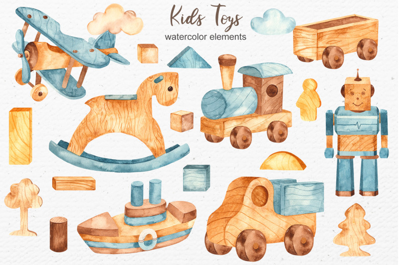 kids-toys-watercolor-clipart
