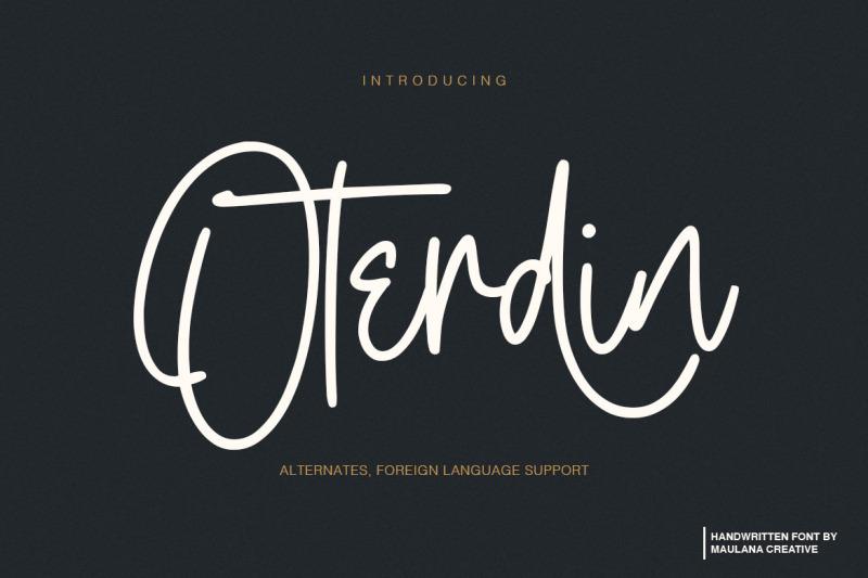 oterdin-handwritten-font
