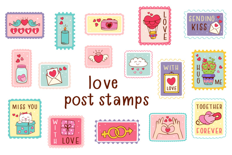 love-stickers-collection