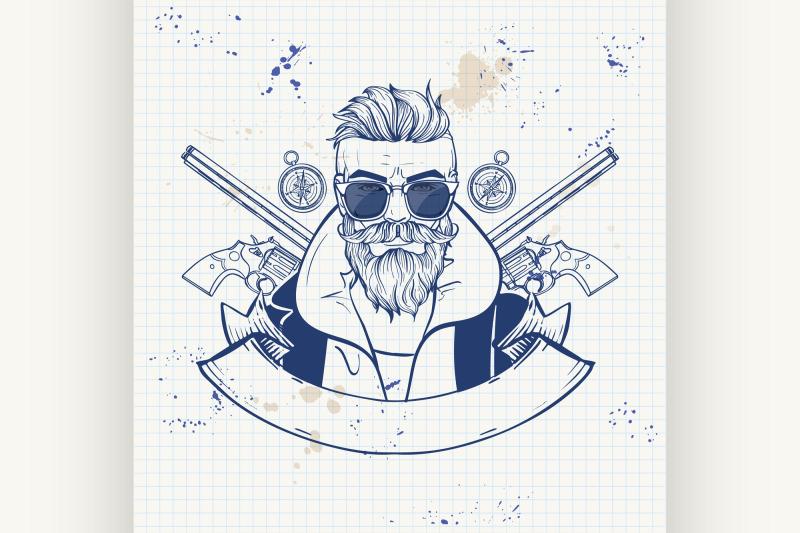 sketch-hunter-man-with-beard-5