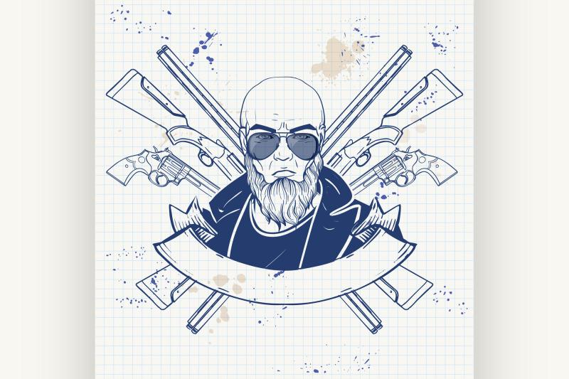 sketch-hunter-man-with-beard-6