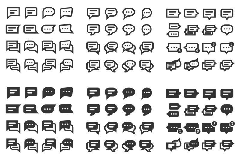 96-speech-bubble-icons