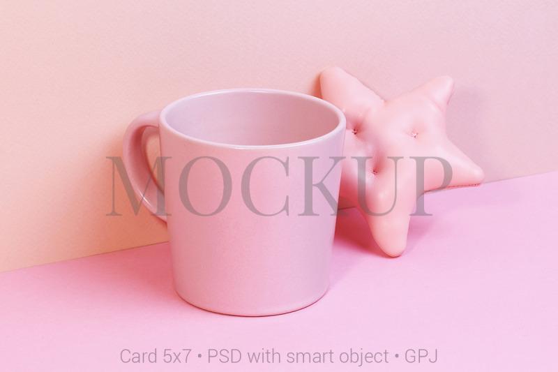 Download Cup mockup with toy star & FREE BONUS Free Mockups