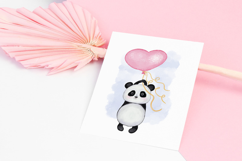 panda-with-balloon-heart-valentine-039-s-day
